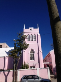 A pink Church in Hamilton